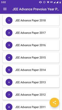JEE Advanced Previous Year Solved Question Paper screenshot 1