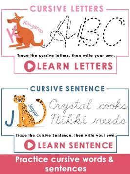 Kids Learn Cursive Writing - Cursive For Toddlers screenshot 5