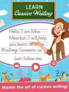 Kids Learn Cursive Writing - Cursive For Toddlers screenshot 6