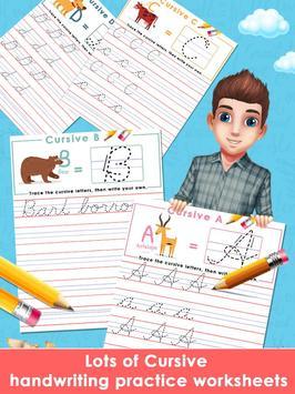 Kids Learn Cursive Writing - Cursive For Toddlers screenshot 13