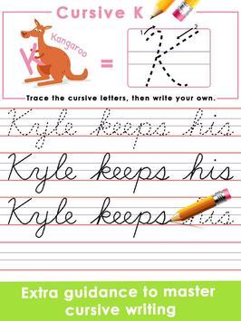 Kids Learn Cursive Writing - Cursive For Toddlers screenshot 10