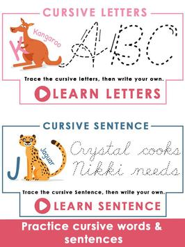 Kids Learn Cursive Writing - Cursive For Toddlers screenshot 17