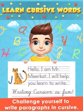 Kids Learn Cursive Writing - Cursive For Toddlers screenshot 15