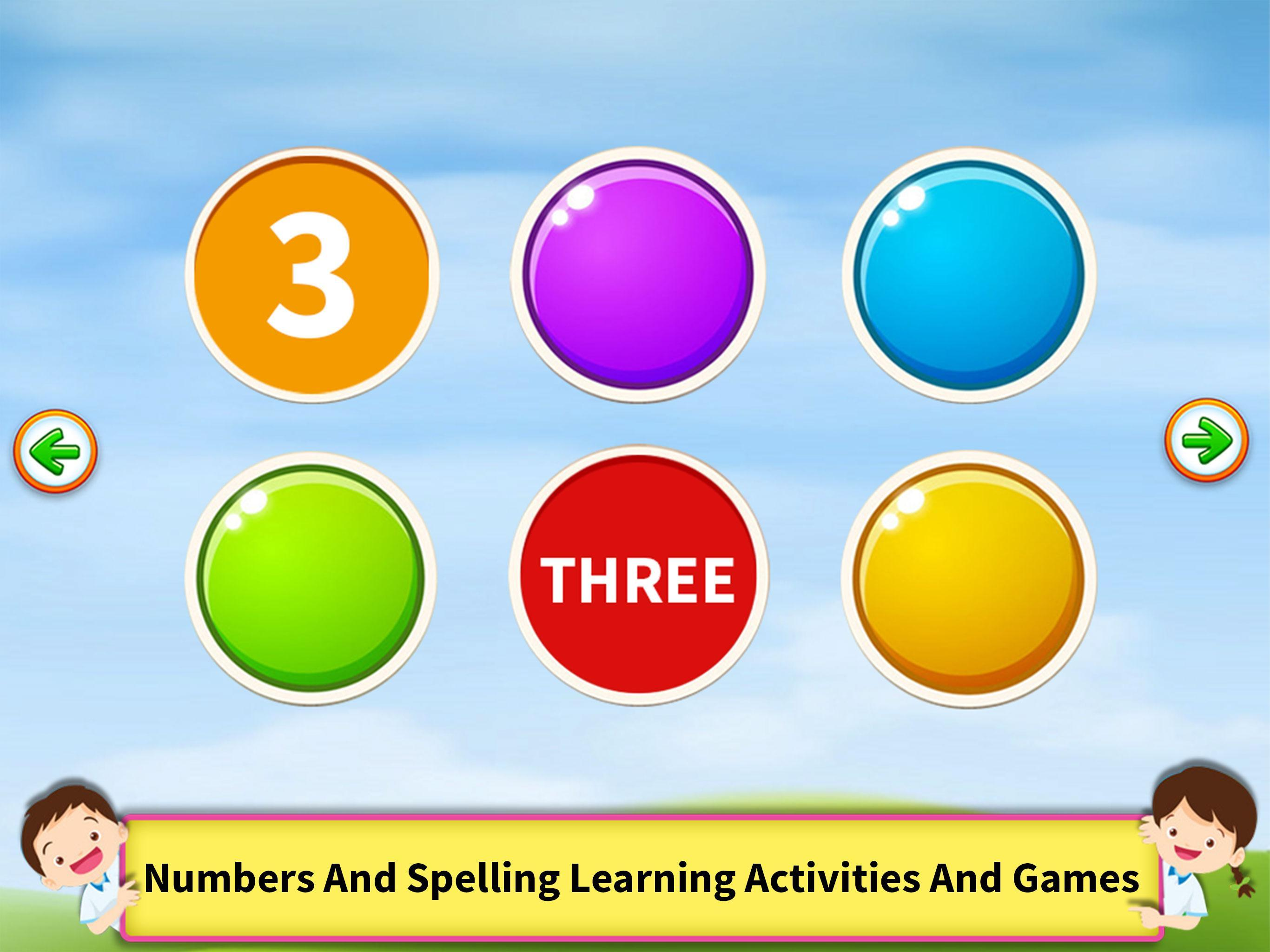 Learn Numbers Spelling 1-100 - Spelling For Kids for Android