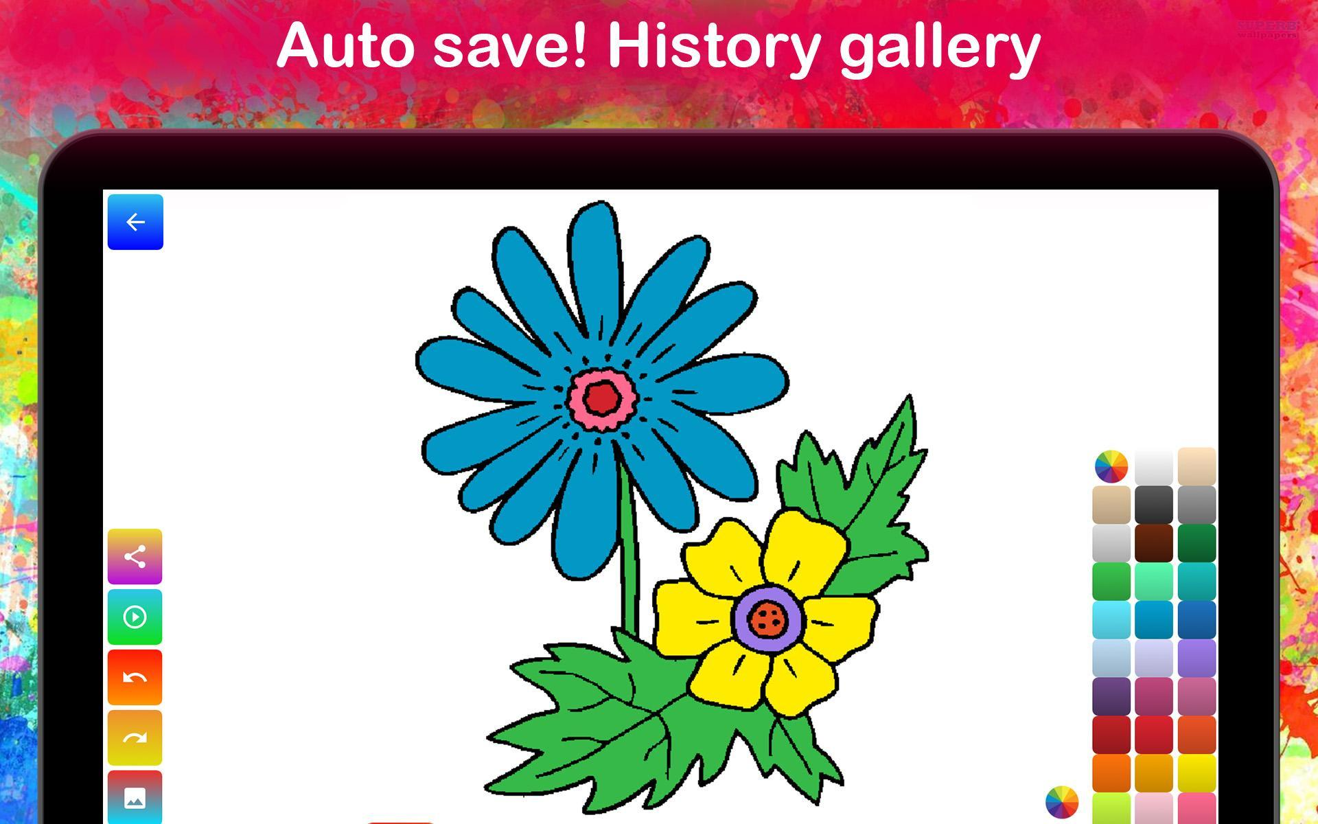 Flower Coloring Pages Game For Kids For Android Apk Download