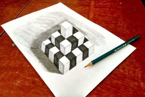 Learn to draw 3d poster