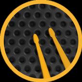 bucles de batería y metrónomo icono