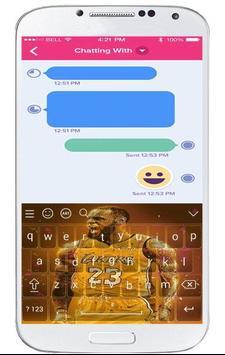Keyboard For lebron james screenshot 1