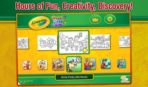 Crayola Color, Draw & Sing screenshot 1