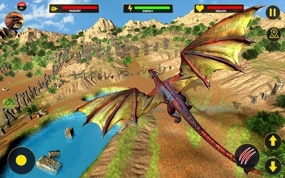Flying Dragon City Attack- Dragon Games 2021 screenshot 1