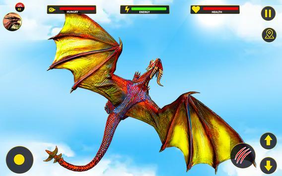 Flying Dragon City Attack- Dragon Games 2021 screenshot 10
