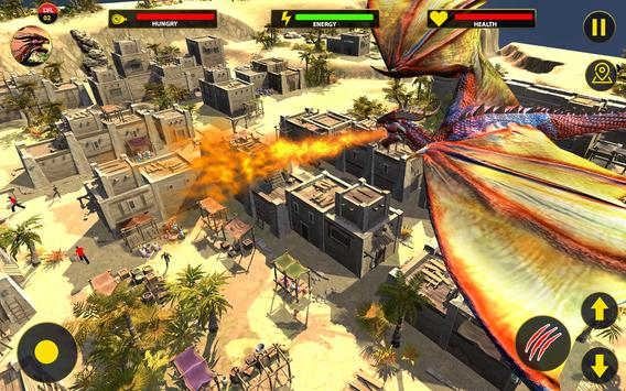 Flying Dragon City Attack- Dragon Games 2021 screenshot 3