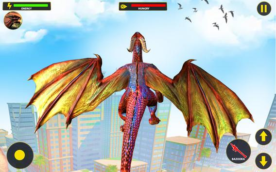 Flying Dragon City Attack- Dragon Games 2021 screenshot 2