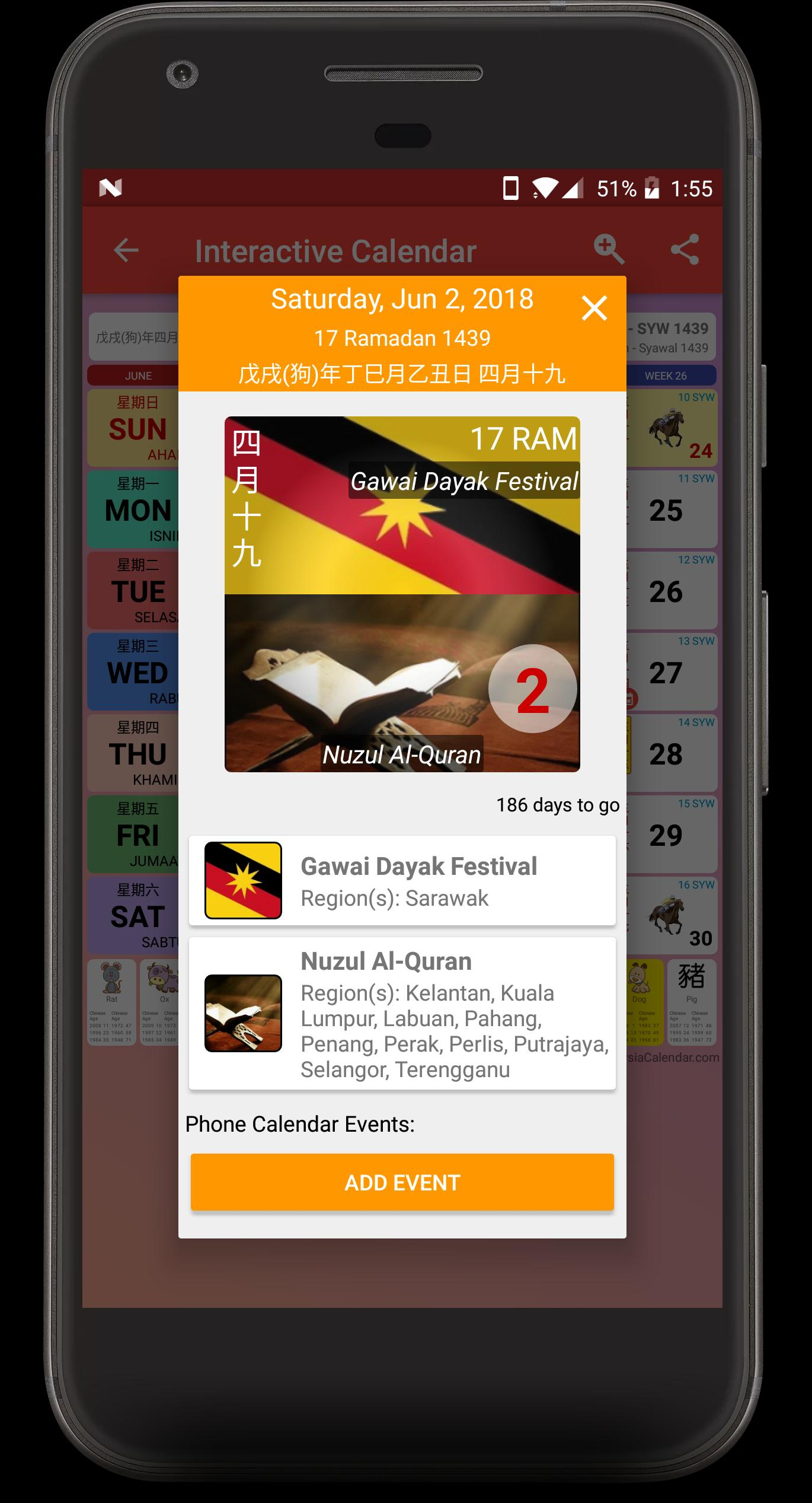 Malaysia Calendar for Android - APK Download