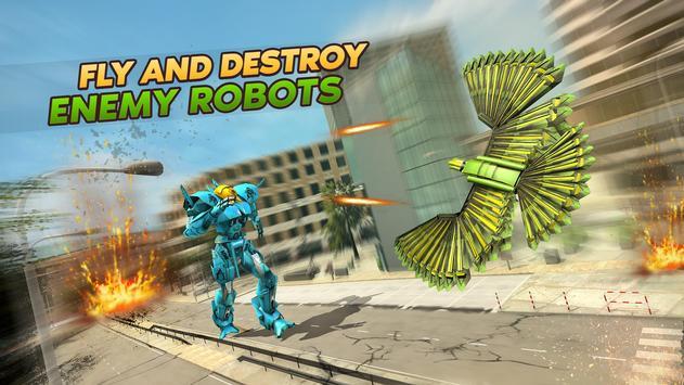 Army Spy Pigeon Multi Transforming Robot Games screenshot 2