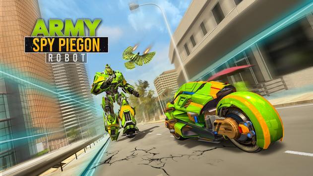 Army Spy Pigeon Multi Transforming Robot Games screenshot 5