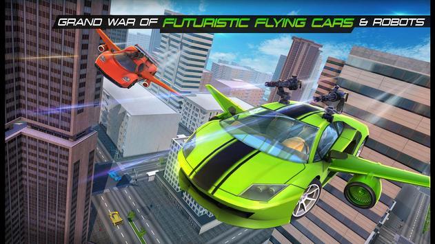 Flying Army Car Transform Robot Shooting Game screenshot 11