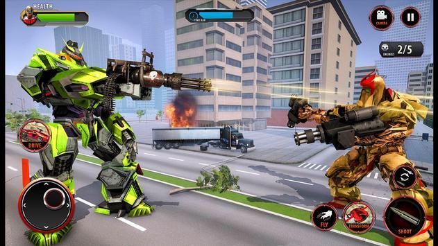Flying Army Car Transform Robot Shooting Game screenshot 3