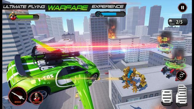 Flying Army Car Transform Robot Shooting Game screenshot 1