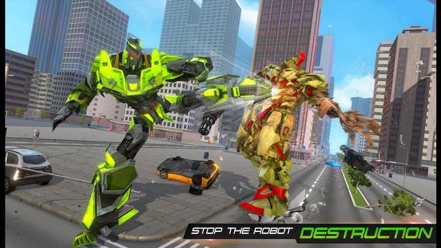 Flying Army Car Transform Robot Shooting Game screenshot 4