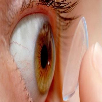 contact lenses wearing videos poster