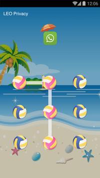 AppLock Theme - Volleyball screenshot 1