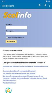 Info Scolaire poster