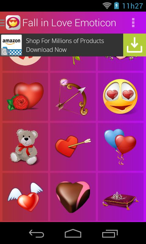 Fall in Love Emoticons poster