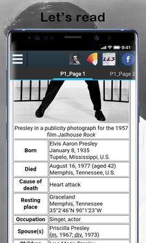 Biography of Elvis Presley screenshot 1