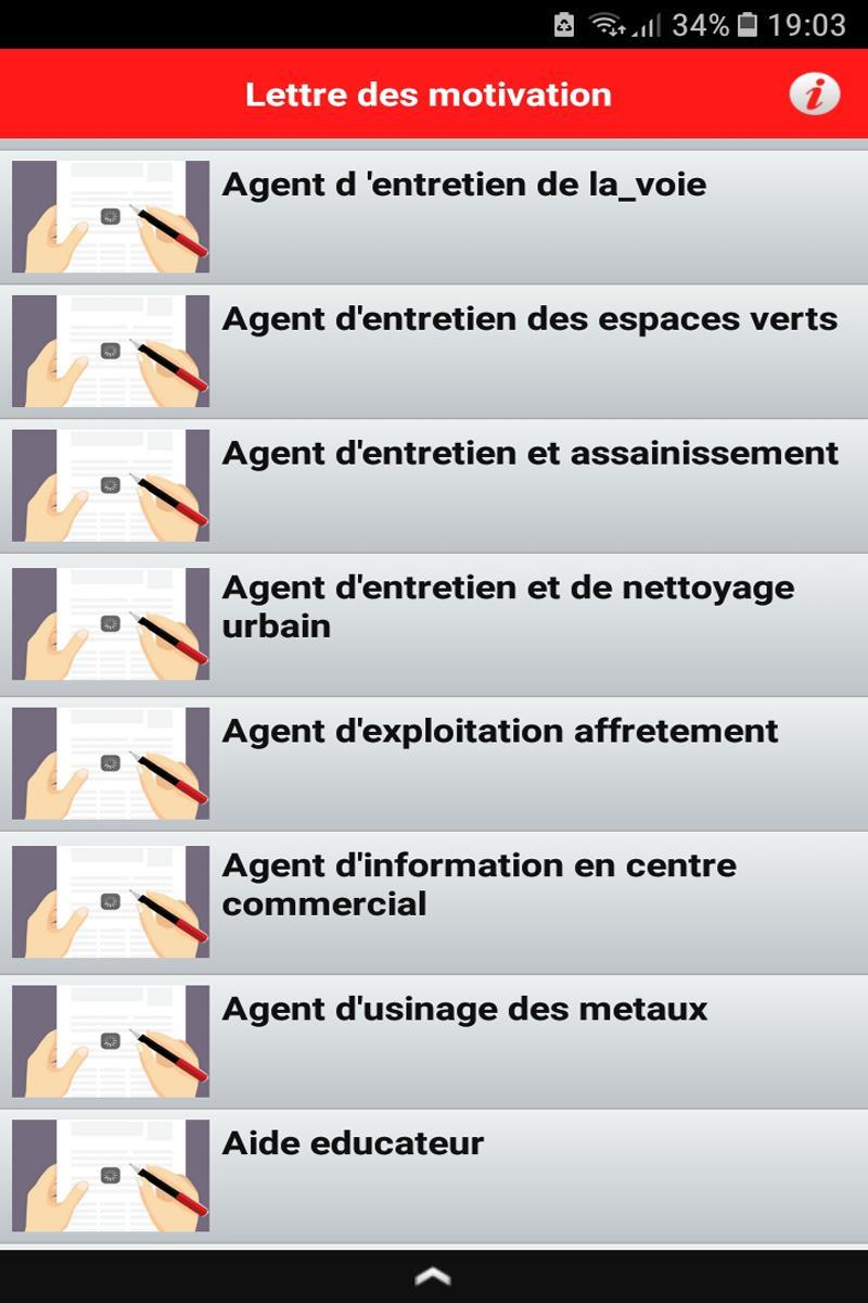 Lettre De Motivation Pro Modèles Emploi для андроид