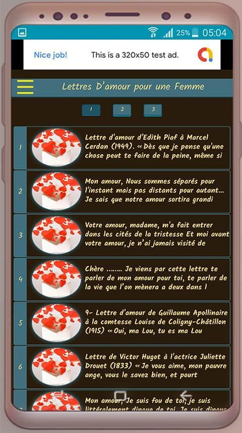 Lettres Damour Pour Une Femme For Android Apk Download