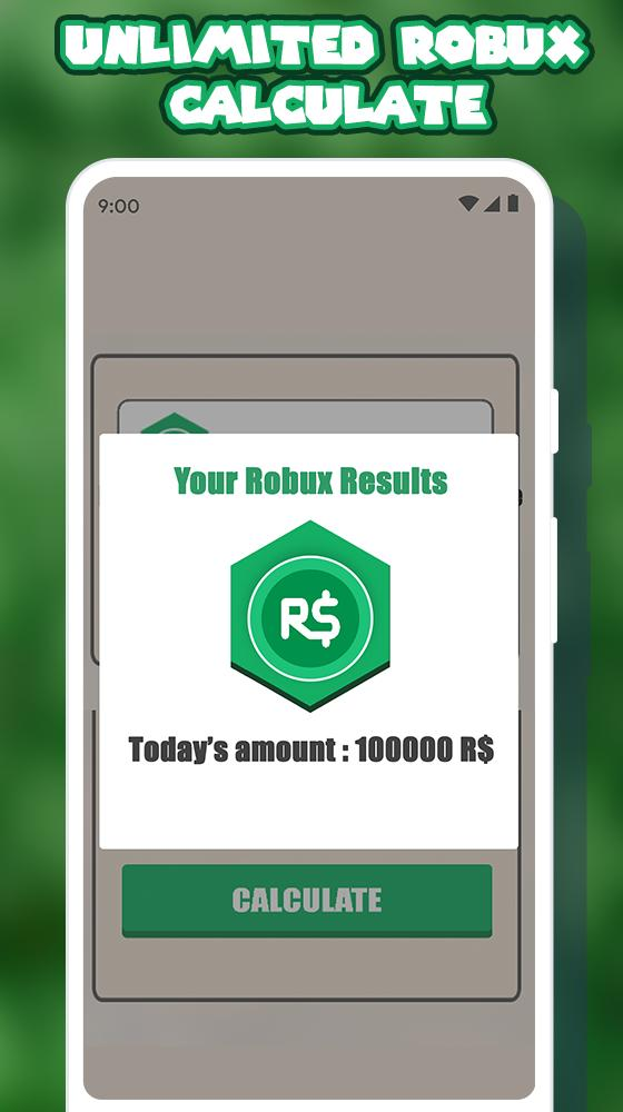 Free Robux Calculator For Roblox For Android Apk Download