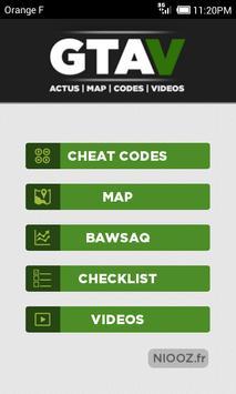 Map & Cheats for GTA V 포스터