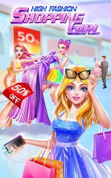 High Fashion Shopping Girl poster