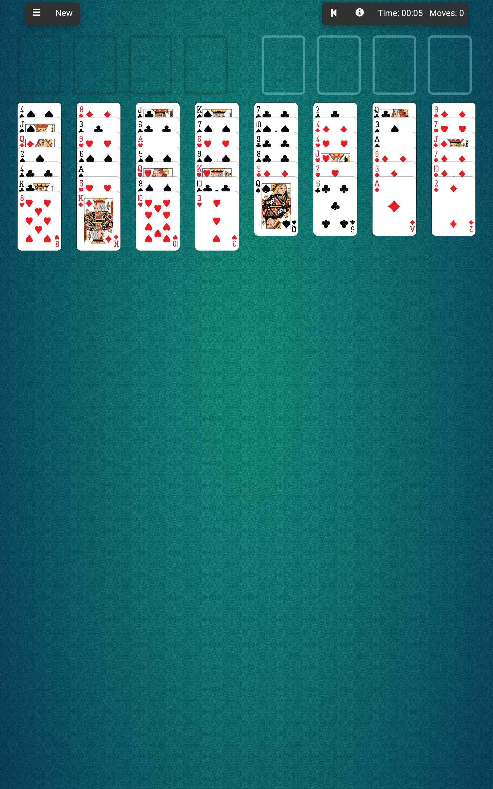 карточные игры пасьянс скорпион косынка