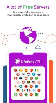 LifetimeVPN - Fast Secure and Free VPN Proxy screenshot 1