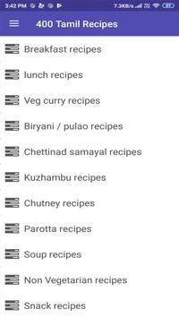 400 Tamil Recipes - Samayal Tamil poster