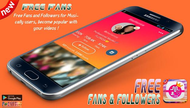 Free Fans Followers - Fans and Likes for Musically captura de pantalla 3