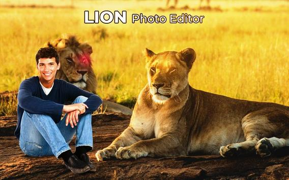 Lion Photo Frame poster