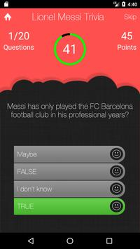 UnOfficial Lionel Messi Trivia Quiz Game screenshot 2