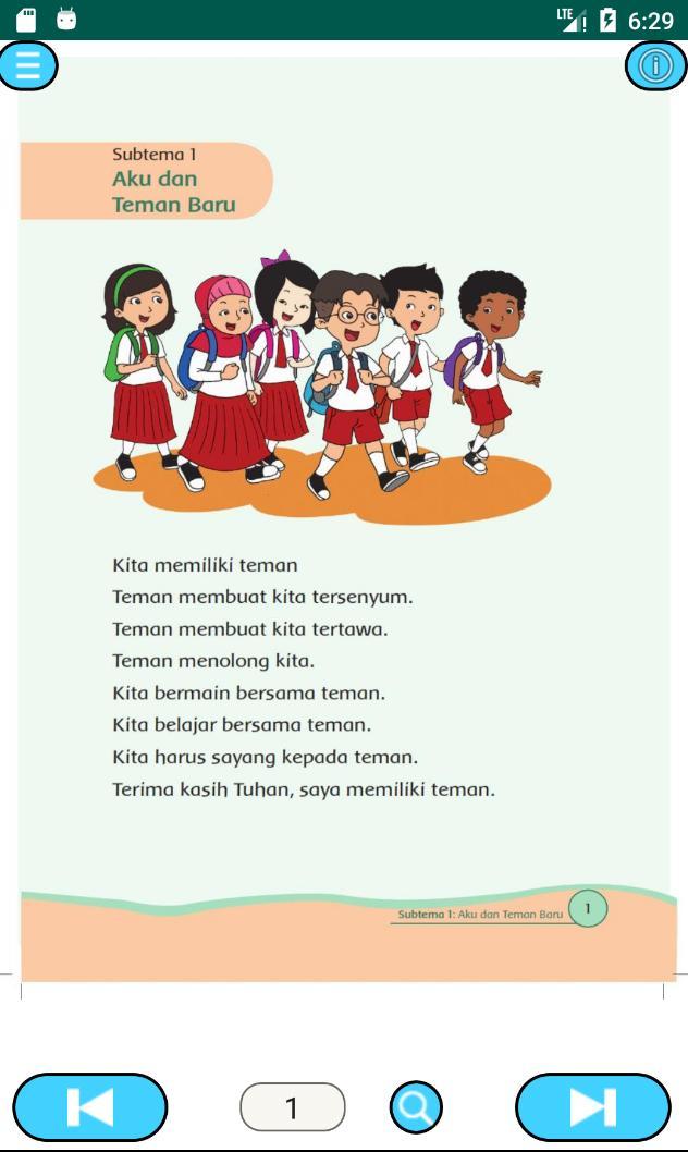 Kelas 1 Tema 1 Diriku poster