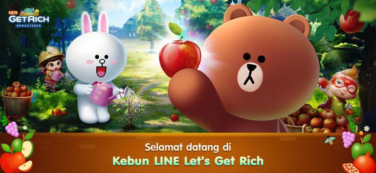 LINE Let's Get Rich penulis hantaran