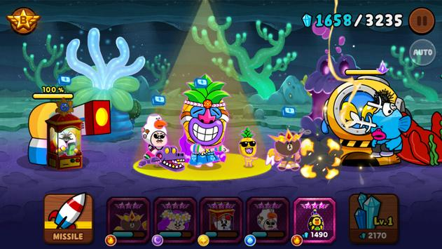 A LINE Rangers/Crayon Shinchan tower defense RPG! 截图 1