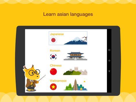 Aprenda Inglês, Espanhol, Japonês ou Coreano imagem de tela 8