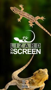 Lizard on Phone Screen: Funny Animation screenshot 1