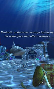 Live Wallpaper - 3D Ocean : World Under The Sea स्क्रीनशॉट 1