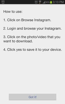Video Downloader für Instagram Plakat
