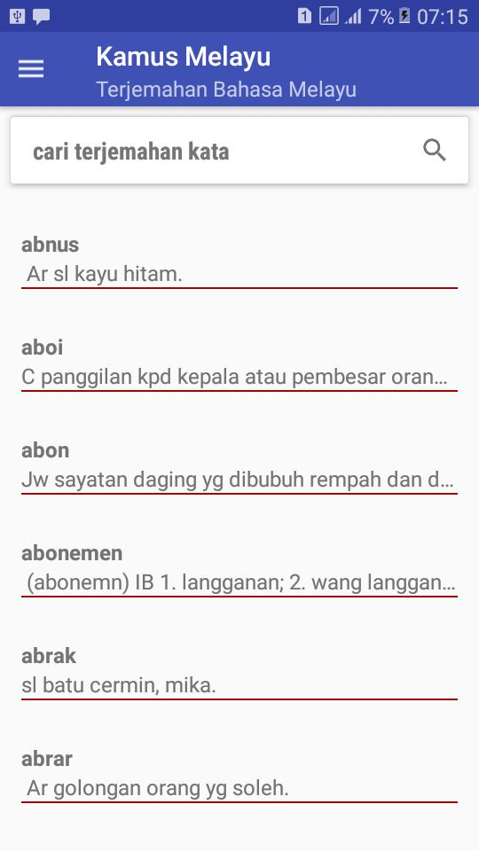 Kamus Bahasa Melayu Terjemahan Bahasa Malaysia For Android Apk Download
