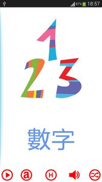 Cantonese Flashcards - Numbers poster