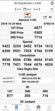 4D King Live 4D Results syot layar 2